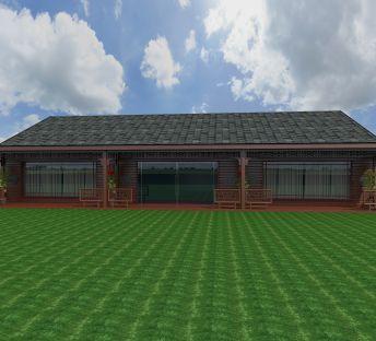 中式红木屋
