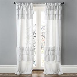 卧室阳台落地窗帘模型