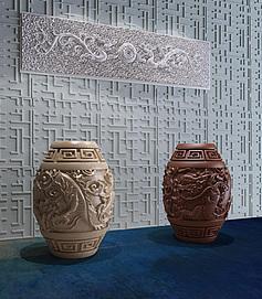 中式宫廷龙纹凳模型