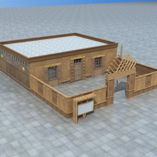 新疆木质民居3d模型