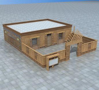 新疆木质民居