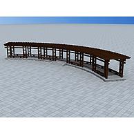 户外木质花架3D模型3d模型