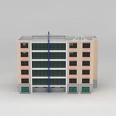 6层小公寓3D模型3d模型