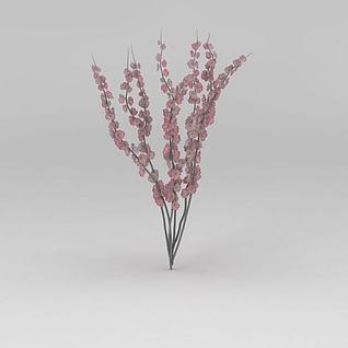 桃花枝3d模型