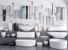 现代卫浴用品模型
