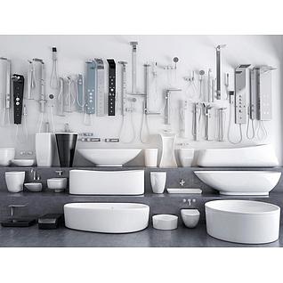 现代卫浴用品3d模型