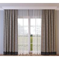 棉麻窗帘3D模型3d模型