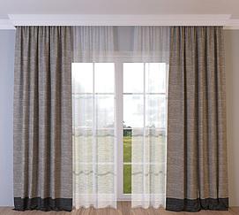 棉麻窗帘模型