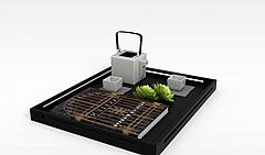 方形茶具模型3d模型