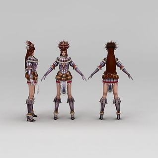 剑客女3d模型