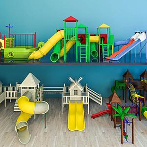 儿童乐园滑梯组合模型