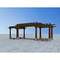 中式庭院花架3D模型3d模型