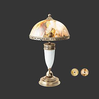 欧式古典台灯3d模型