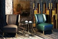现代皮艺休闲沙发椅组合模型3d模型