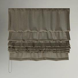 日式布艺窗帘模型