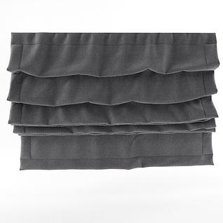 日式灰色卷帘3d模型
