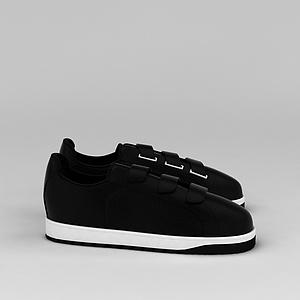 黑色板鞋模型3d模型