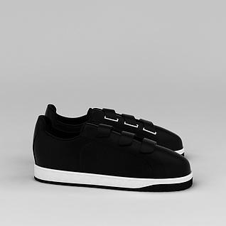 黑色板鞋3d模型