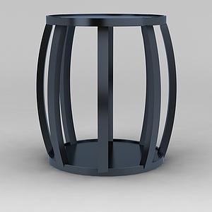 金属鼓凳模型3d模型