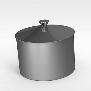 不銹鋼小罐子模型3d模型