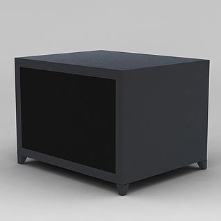客厅实木沙发边柜3d模型3d模型