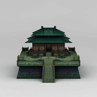 游戏场景古代建筑3d模型