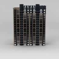 现代高层住宅楼3D模型3d模型
