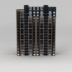 现代高层住宅楼模型3d模型