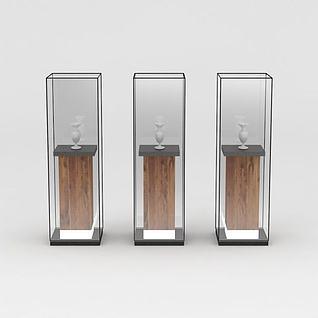 复古玻璃展台3d模型