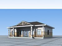 单层独栋别墅3d模型