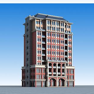 现代商业楼3d模型3d模型
