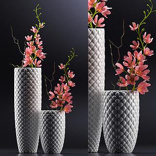 时尚花卉盆景3d模型