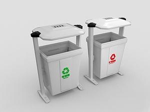 3d室外垃圾箱模型