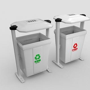 室外垃圾箱3d模型