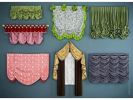 儿童房窗帘组合模型