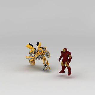 儿童玩具变形金刚3d模型