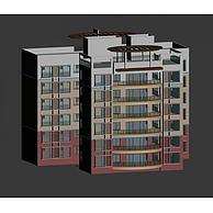现代6层住宅楼3D模型3d模型