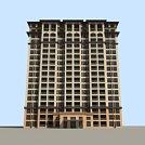 高层商务楼模型