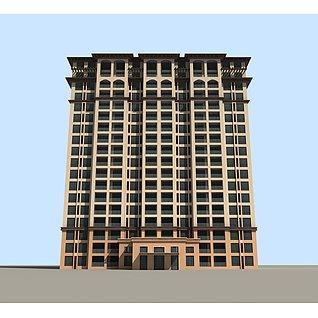 高层商务楼3d模型3d模型