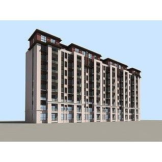 小高层住宅楼3d模型3d模型