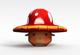 卡通蘑菇3d模型