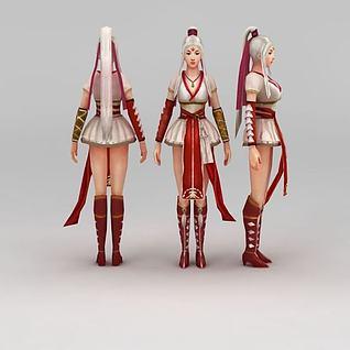 倾国倾城的美女3d模型