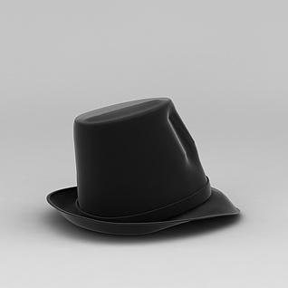 黑色高礼帽3d模型