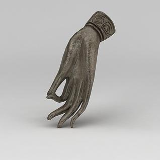 金属手雕塑3d模型