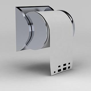 厕所卷纸器3d模型