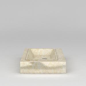 浴室大理石台盆模型