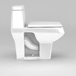 家用坐便器3d模型
