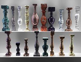 欧式大理石花瓶柱模型
