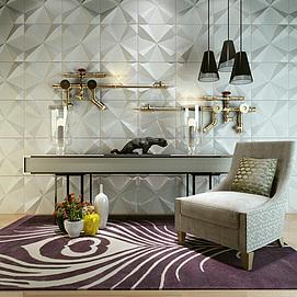 水管造型墙边柜沙发椅组合模型