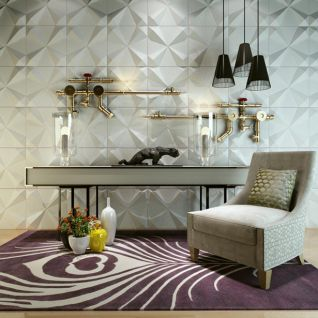 水管造型墙边柜沙发椅组合3d模型